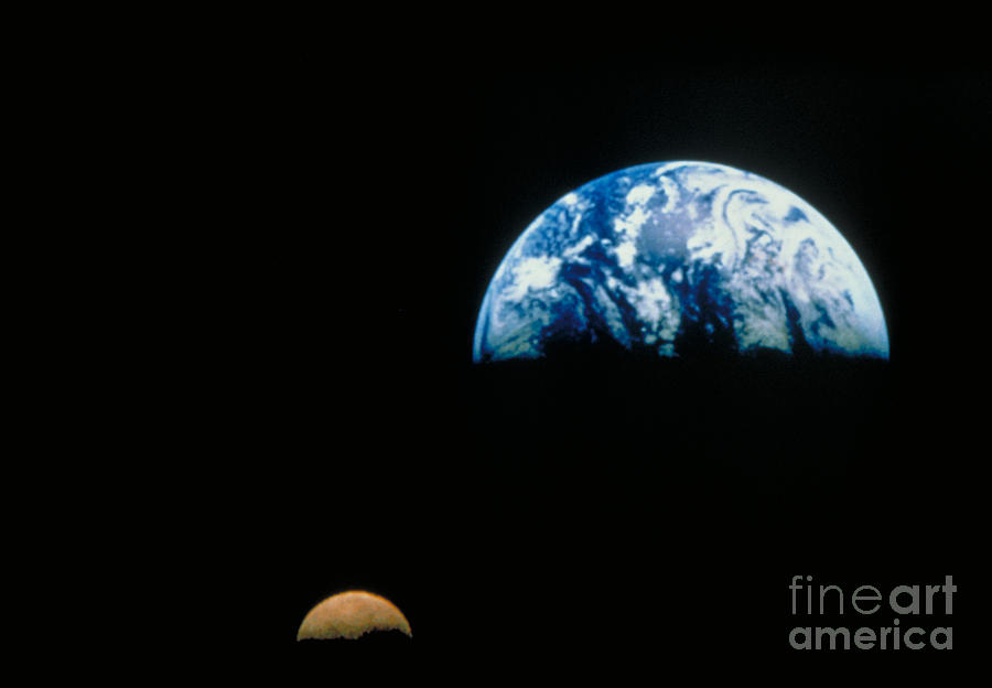 Earth And Moon by Nasa