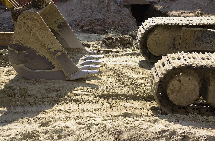 Nobody Photograph - Earth Moving Equipment. An Excavator by Maksym Zaleskyy