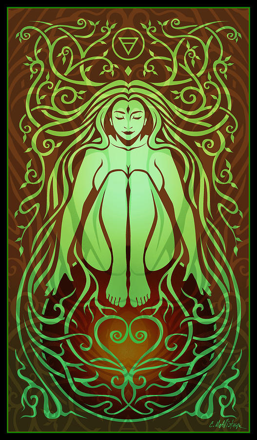 Earth Spirit Digital Art  - Earth Spirit Fine Art Print
