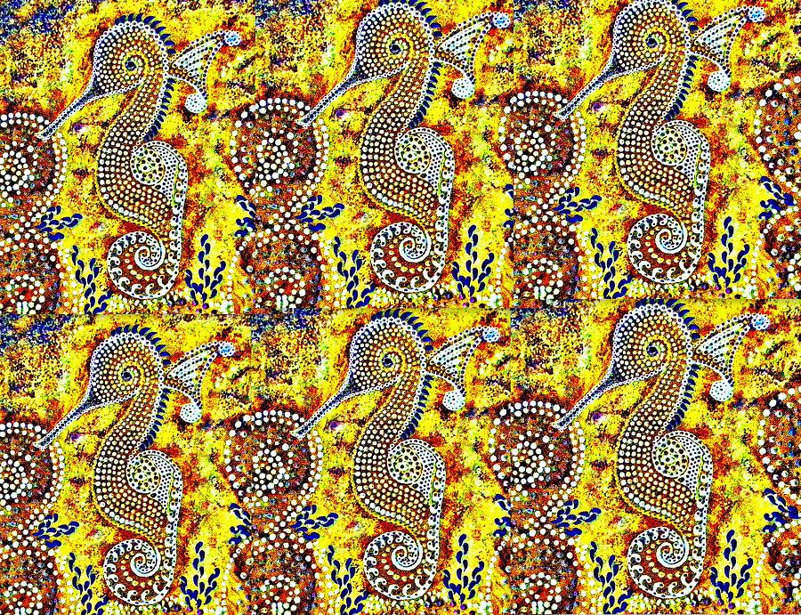 Earth Tone Seahorse  Digital Art