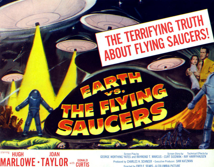 Earth Vs. The Flying Saucers, Far Right Photograph  - Earth Vs. The Flying Saucers, Far Right Fine Art Print