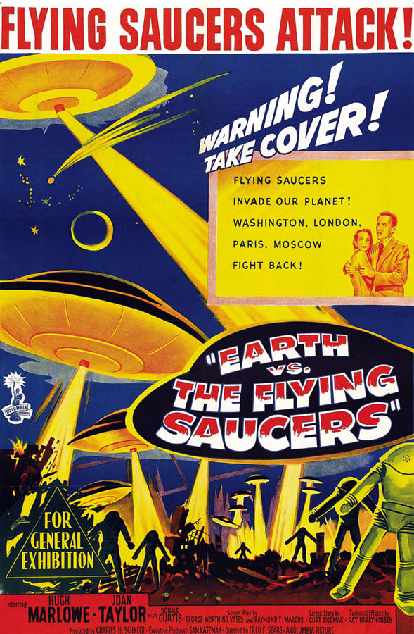 1950s Poster Art Photograph - Earth Vs. The Flying Saucers, Joan by Everett