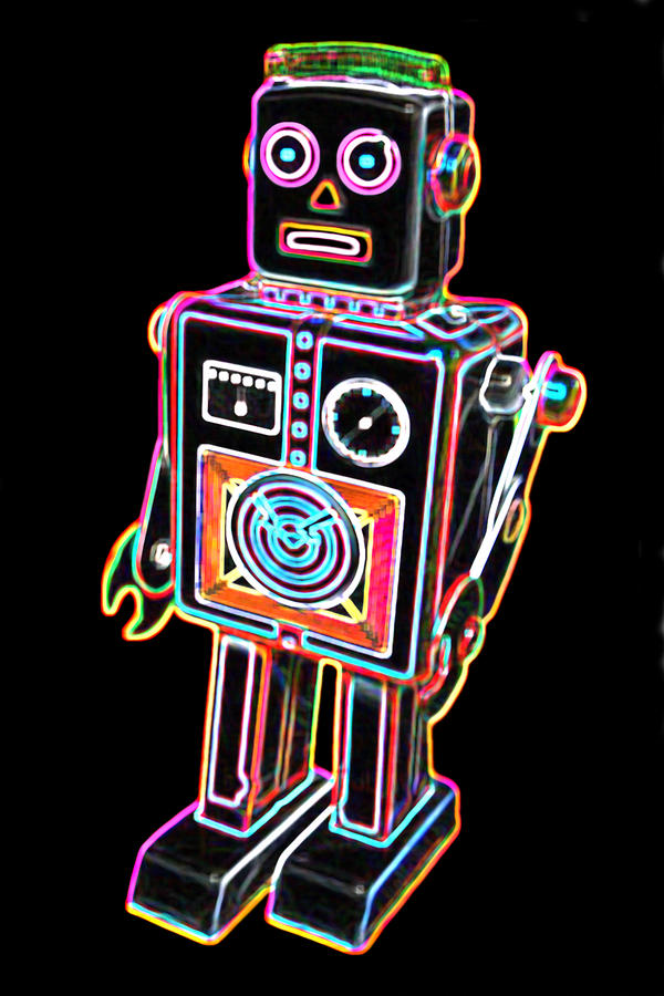 Easel Back Robot Digital Art