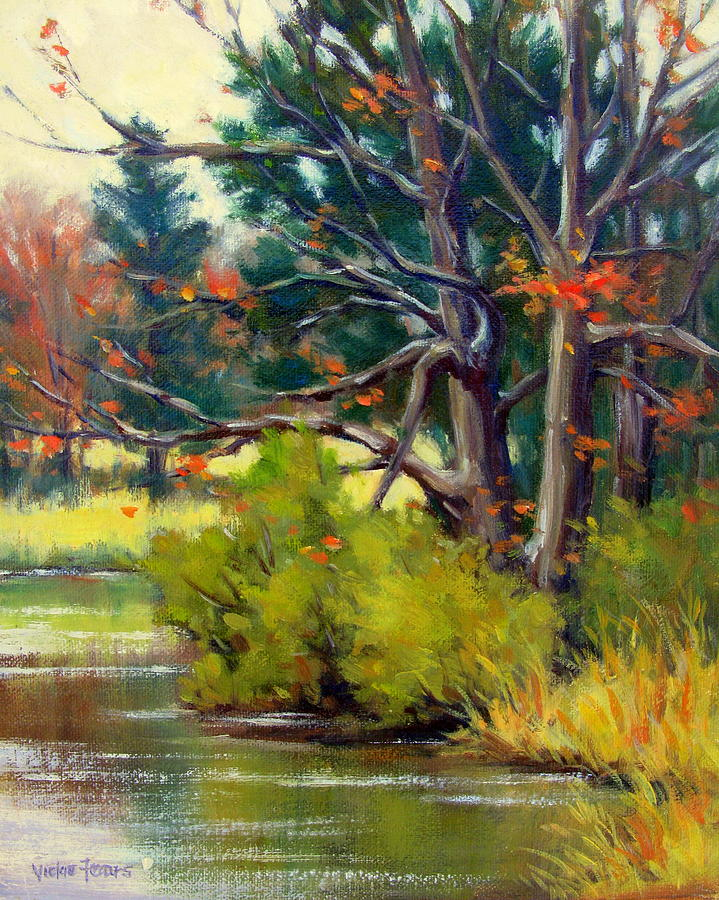 Vickie Fears Painting - East Texas Autumn by Vickie Fears