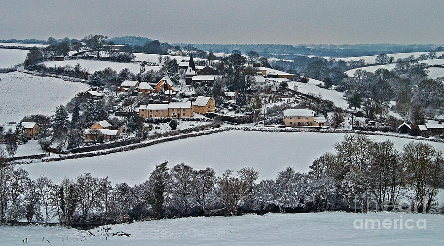 East Worlington In The Snow Photograph