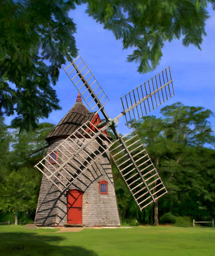 Eastham Windmill Painting  - Eastham Windmill Fine Art Print