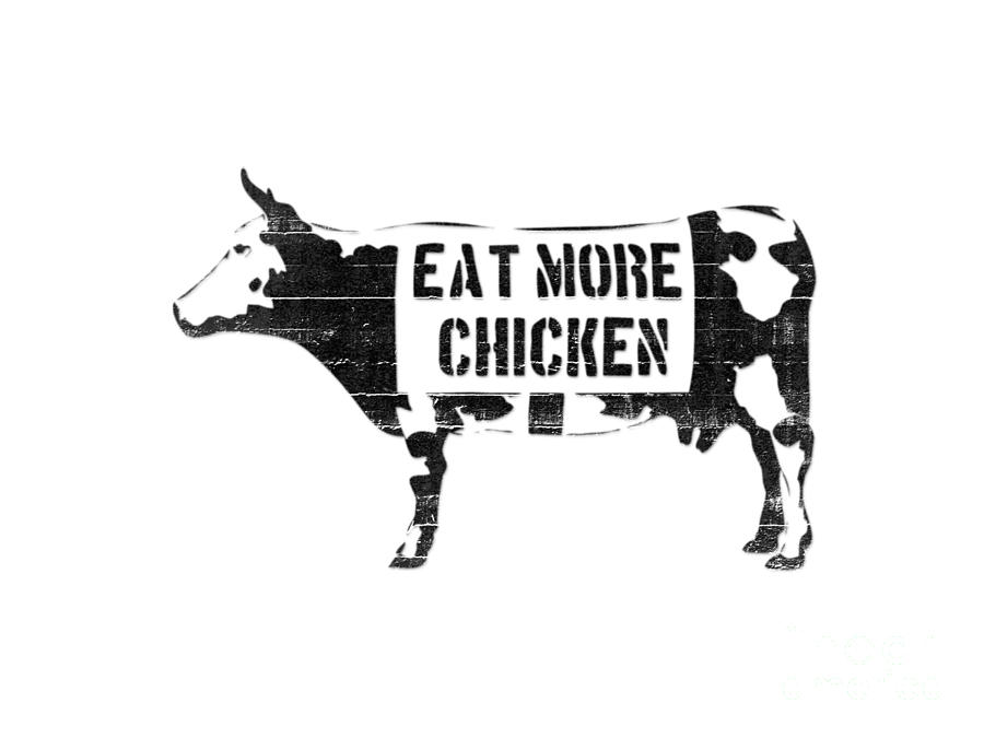 Printable Eat More Chicken Sign