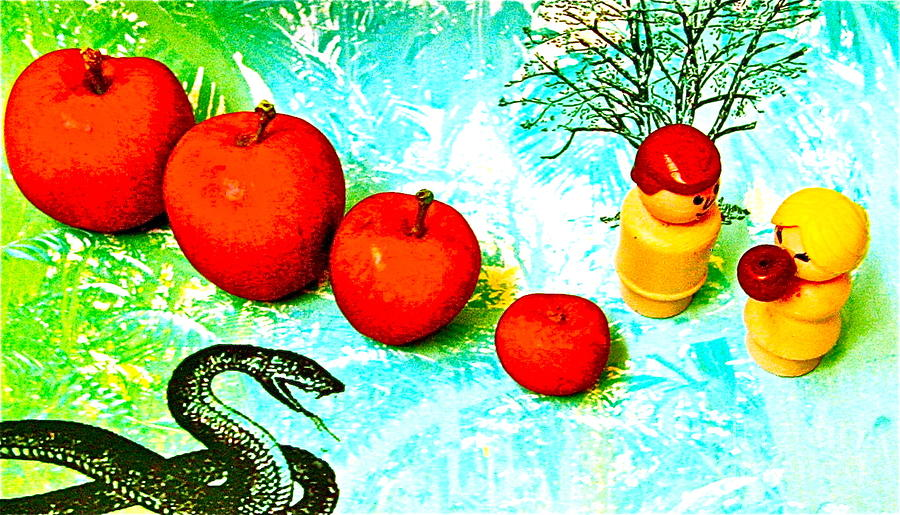 Eating Apples Photograph  - Eating Apples Fine Art Print