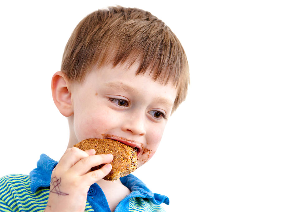 Adorable Photograph - Eating Biscuit by Tom Gowanlock