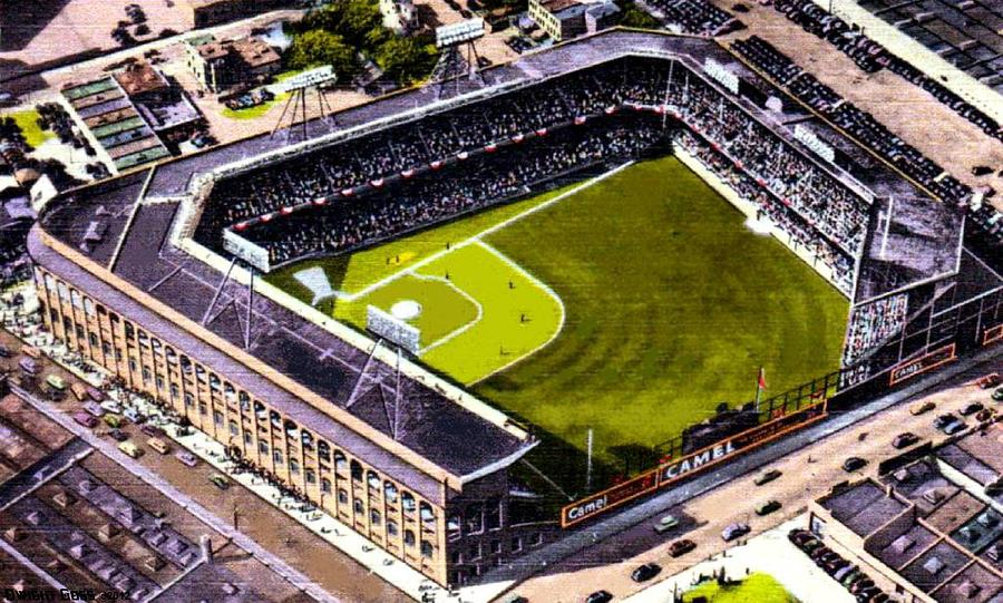 Ebbets Field In Brooklyn N Y In 1930 Painting