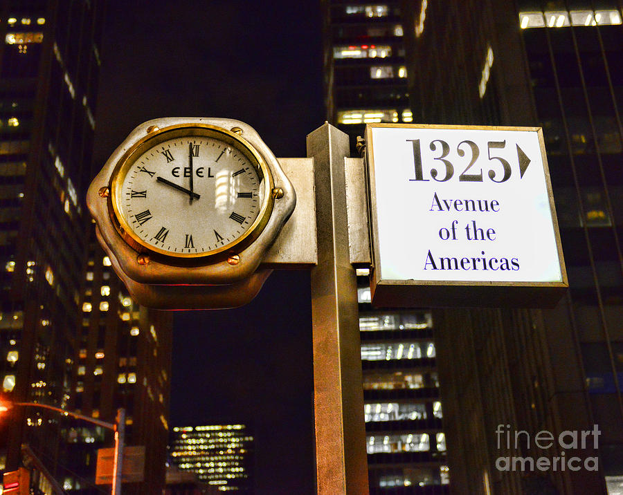 Ebel Street Clock In Nyc Photograph  - Ebel Street Clock In Nyc Fine Art Print