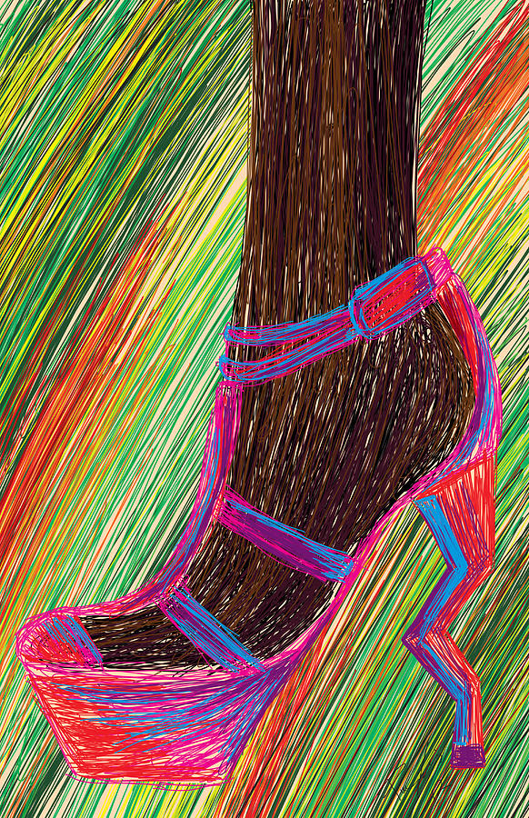 Ebony In High Heels Digital Art