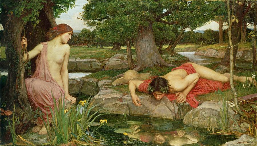 Echo And Narcissus Painting  - Echo And Narcissus Fine Art Print