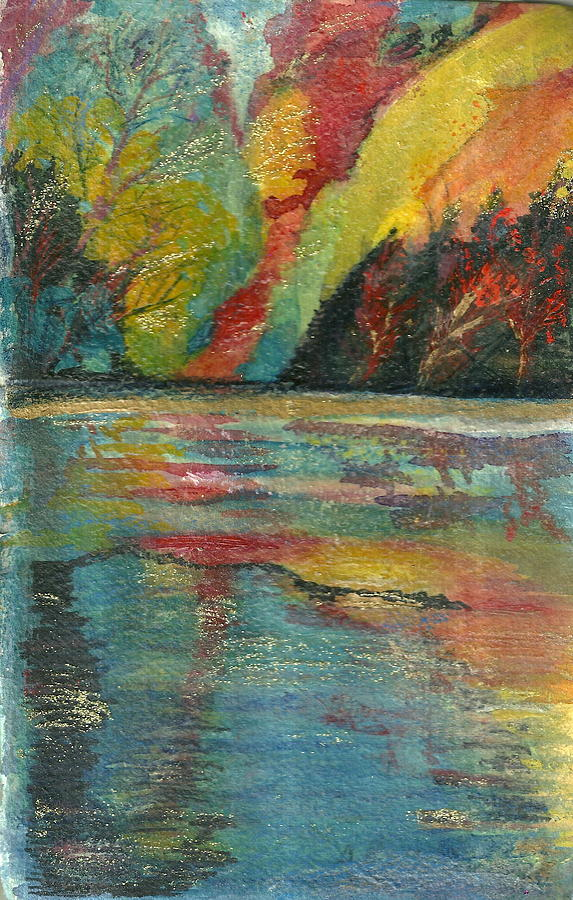 Echo Lake Revisited Painting  - Echo Lake Revisited Fine Art Print