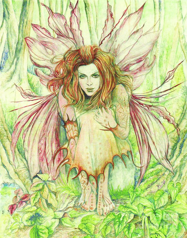 Edana The Fairy Collection Painting  - Edana The Fairy Collection Fine Art Print