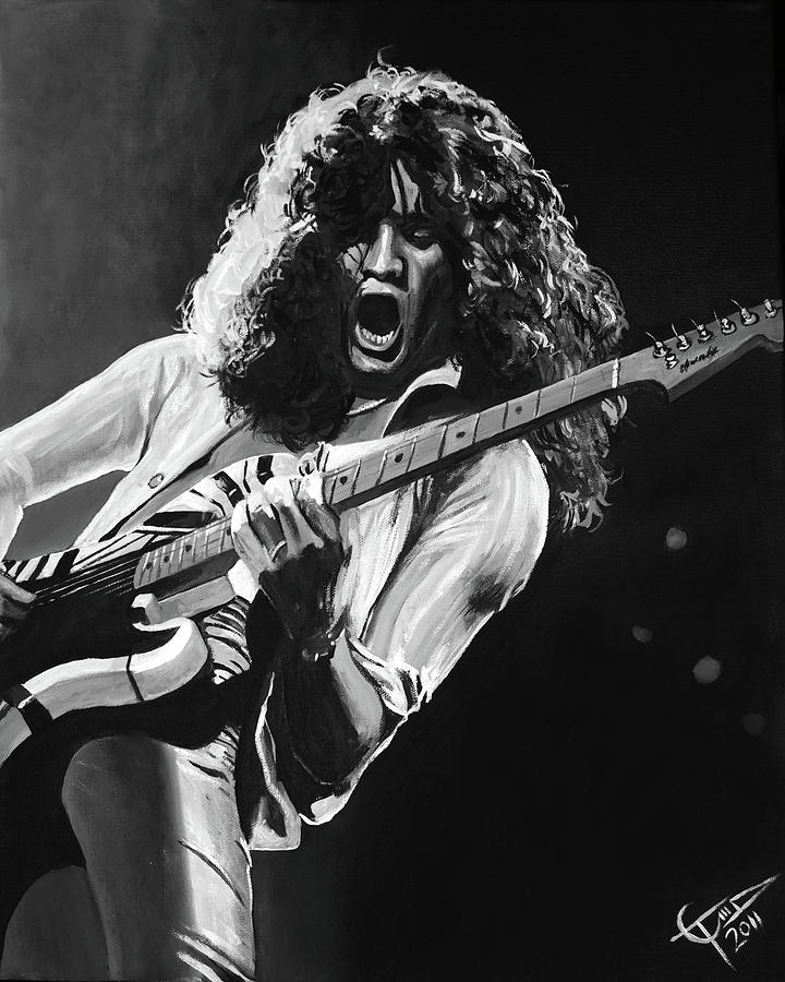 Eddie Van Halen - Black And White Painting