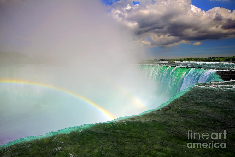 Edge Of Niagara Falls  Photograph