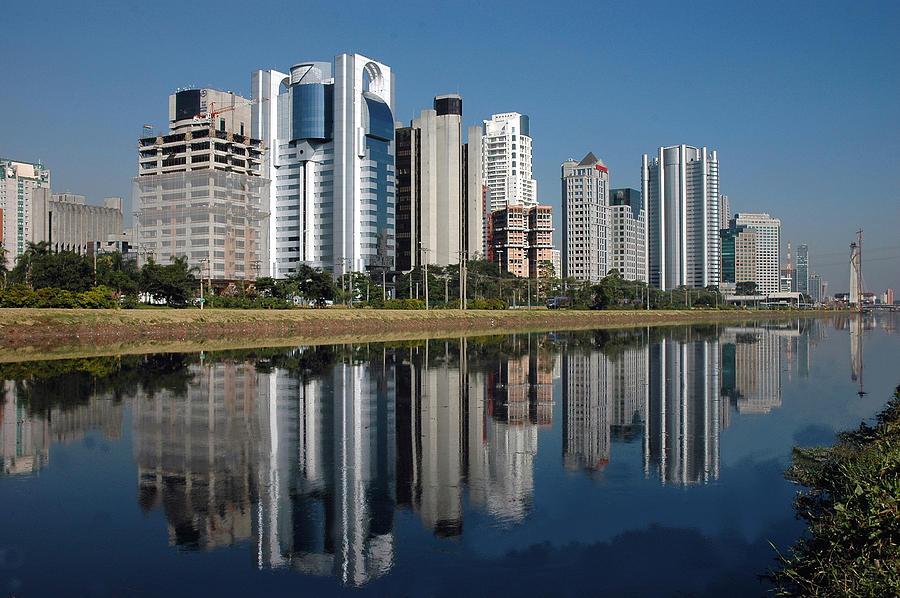 Edifícios Na Marginal Pinheiros (são Paulo) Photograph