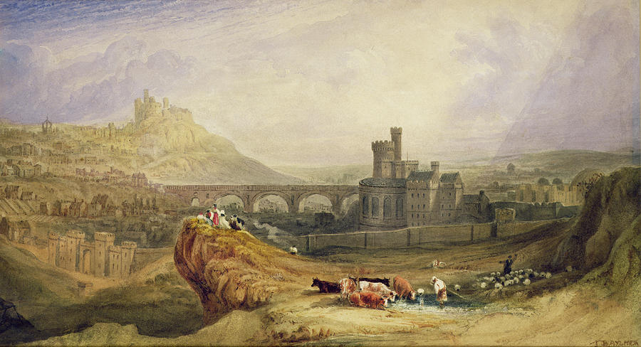 Castle Painting - Edinburgh by Thomas Brabazon Aylmer