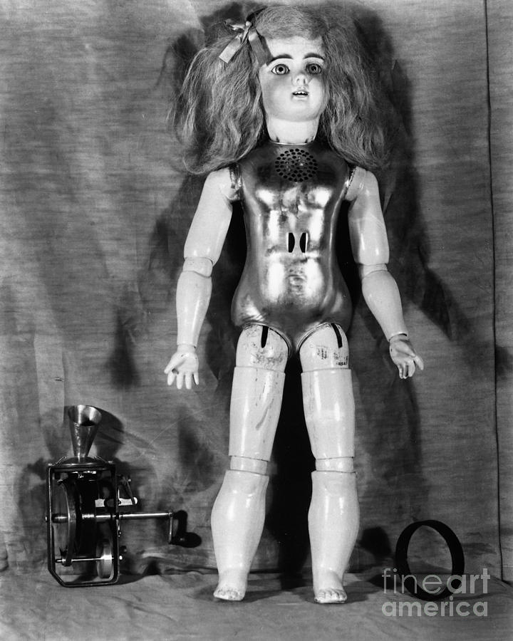 Edison: Talking Doll, C1890 Photograph