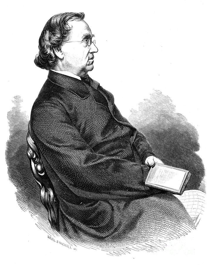 19th Century Photograph - Eduard Moerike (1804-1875) by Granger
