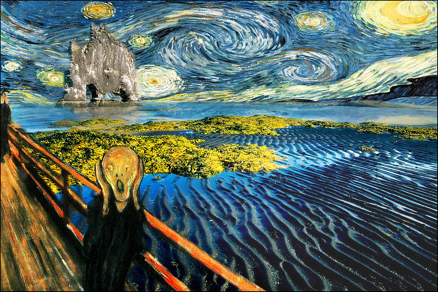 Edvard Meets Vincent Posters Painting