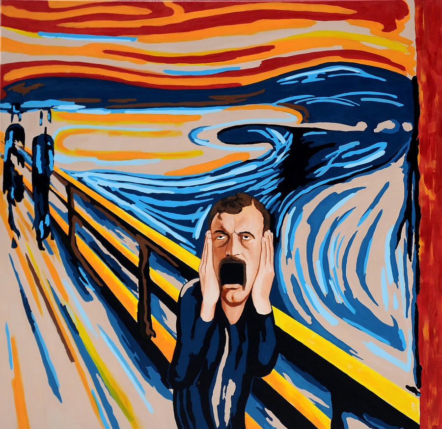 Portrait Painting - Edvard Munch - The Scream by Dennis McCann