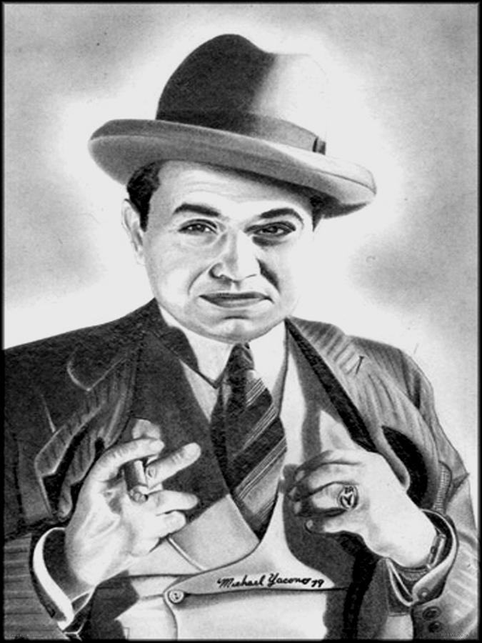 Ed Drawing - Edward G. Robinson by Michael Yacono