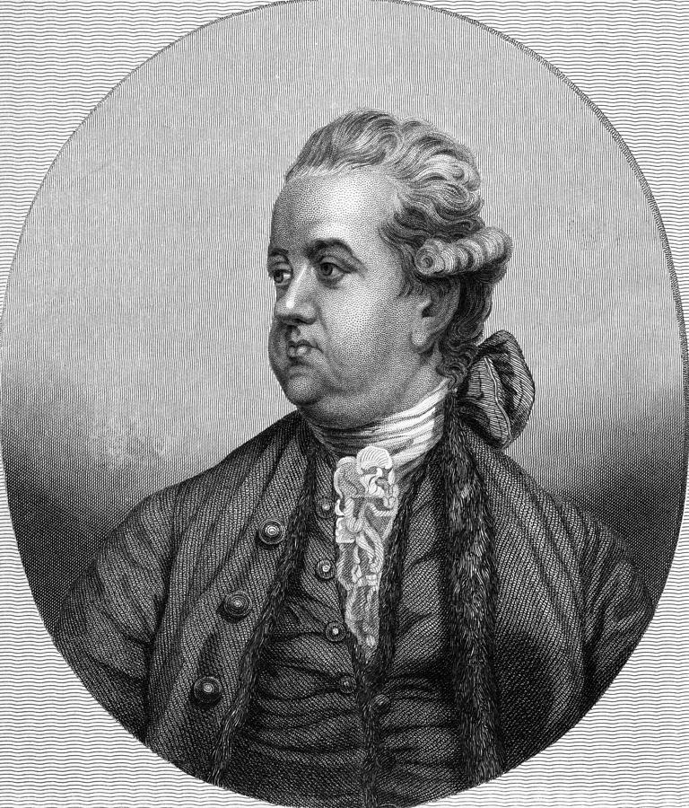 Edward Gibbon, English Historian Photograph  - Edward Gibbon, English Historian Fine Art Print