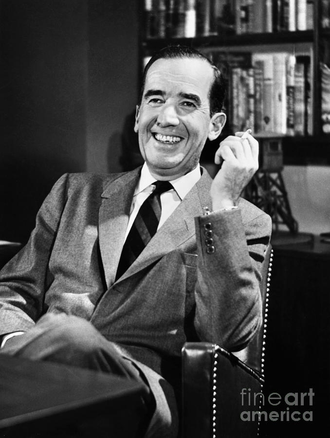 Edward R. Murrow Photograph  - Edward R. Murrow Fine Art Print