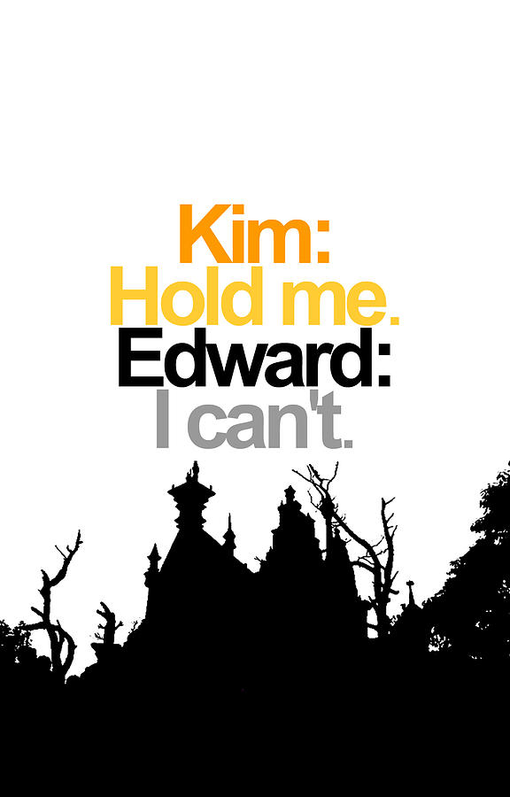 Edward Scissorhands Quote Digital Art