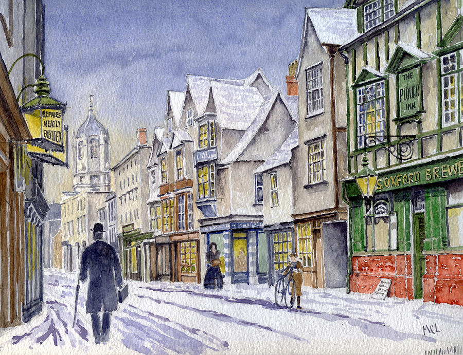 Edwardian St. Aldates. Oxford Uk Painting  - Edwardian St. Aldates. Oxford Uk Fine Art Print