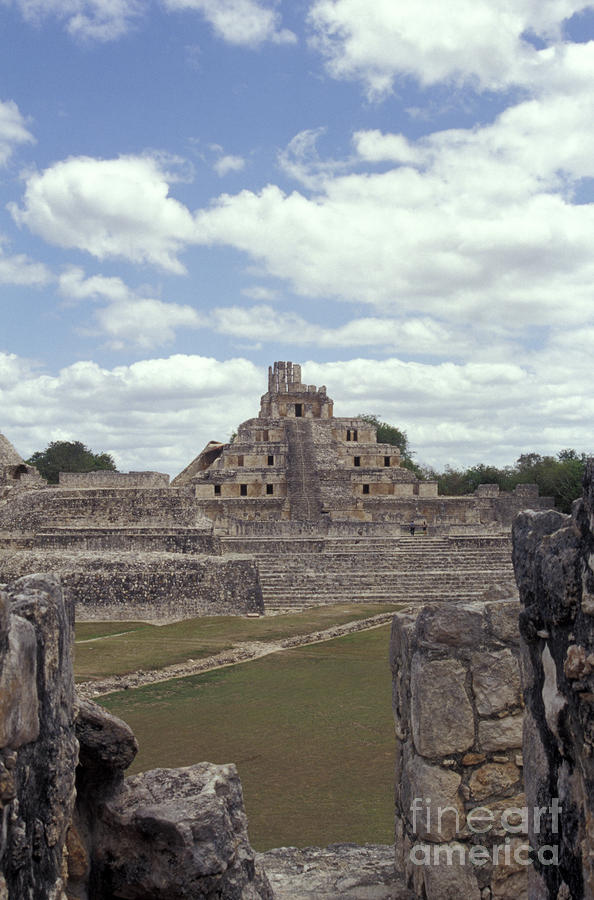 Edzna Mayan Ruins Photograph