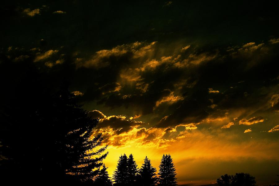 Sunset Photograph - Eerie Evening by Kevin Bone