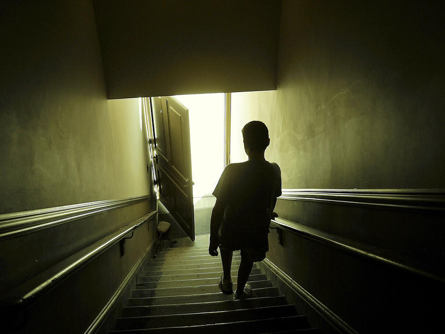 Eerie Stairwell Photograph