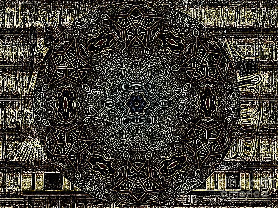Egipto Mandala Digital Art