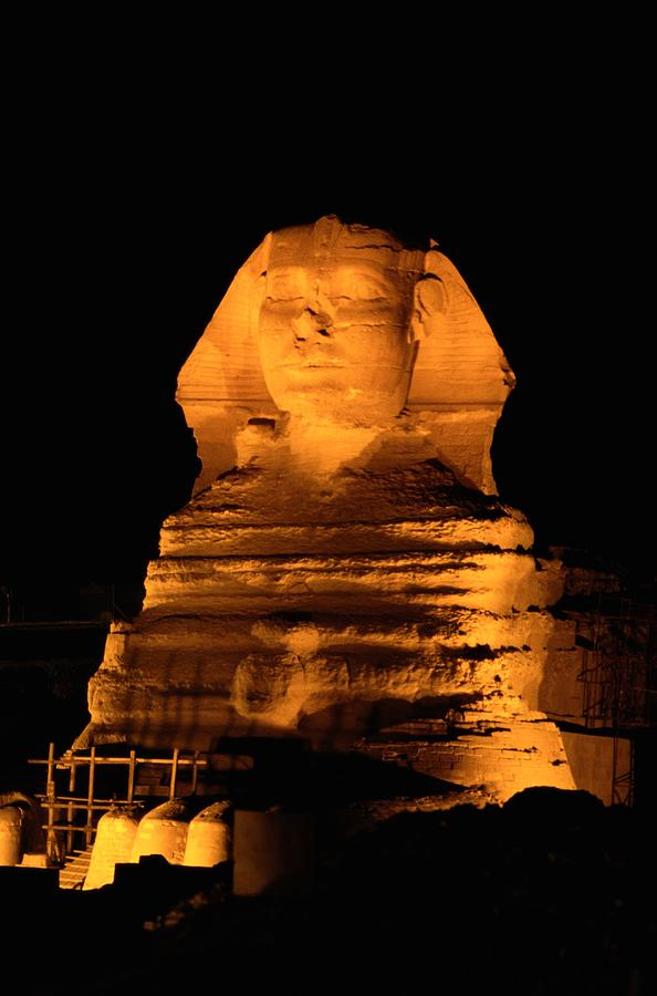 Egypt---giza Pyramids.  The Sphinx Photograph