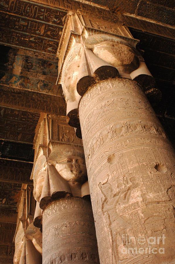 Egypt Temple Of Dendara Photograph
