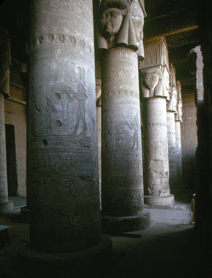 Egypt: Temple Of Hathor Photograph