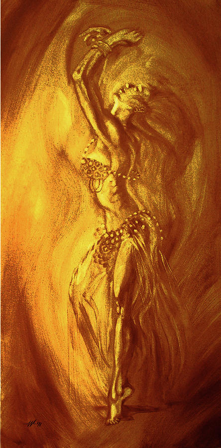 Egyptian Dancer 1 Digital Art  - Egyptian Dancer 1 Fine Art Print