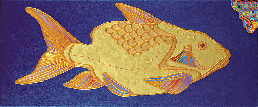 Egyptian Fish Painting