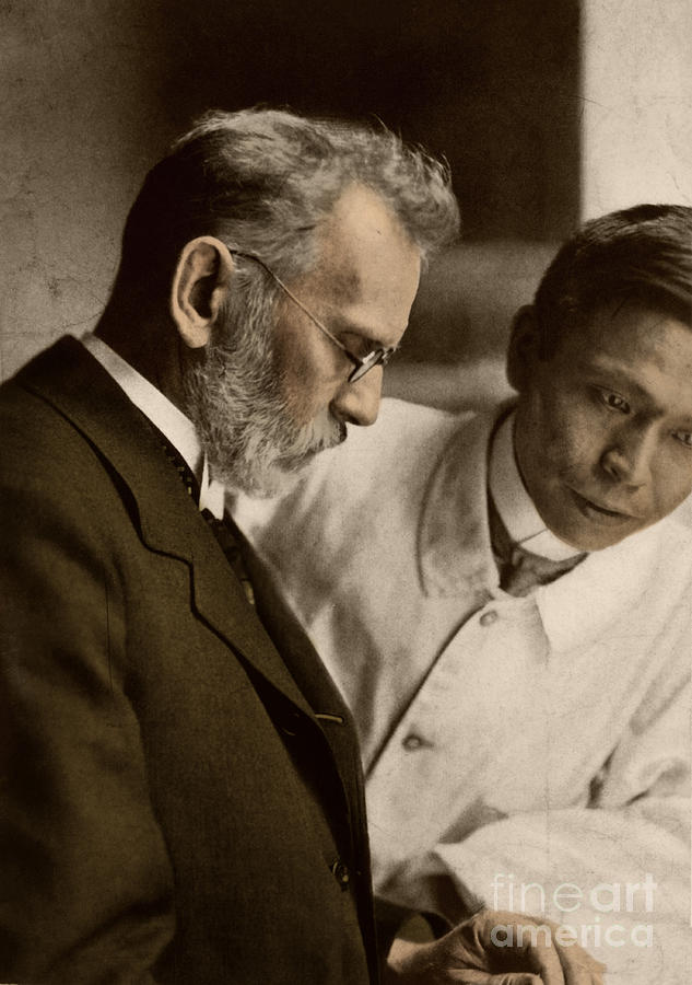 Ehrlich Photograph - Ehrlich And Hata, Discoverers by Science Source