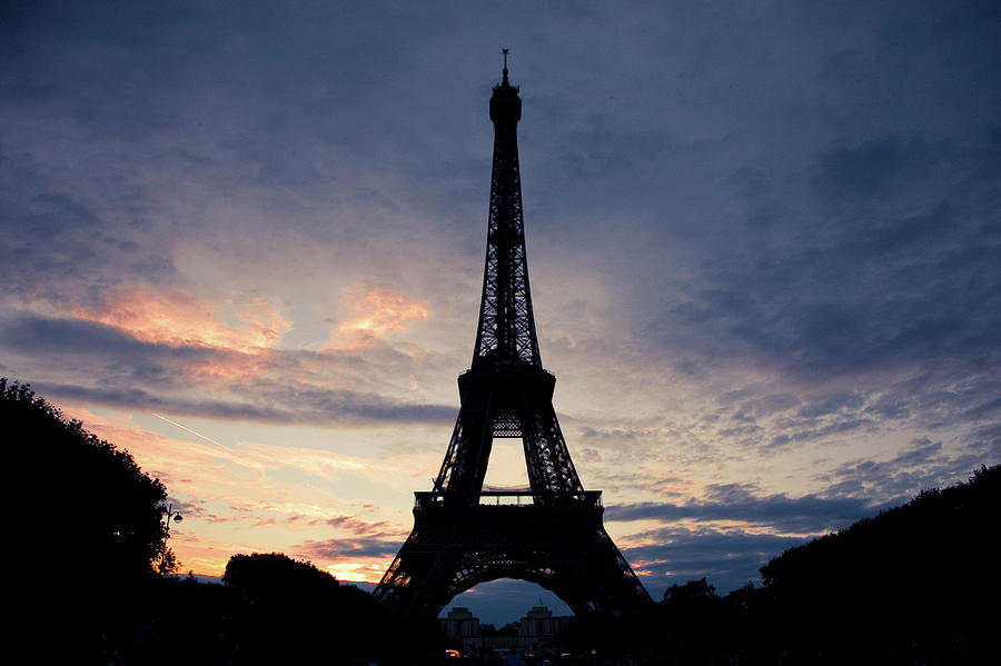 Eiffel Tower At Sunset, Paris, France Photograph