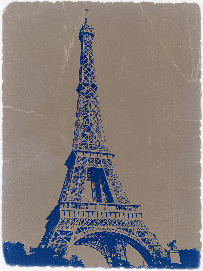 Eiffel Tower Blue Photograph  - Eiffel Tower Blue Fine Art Print