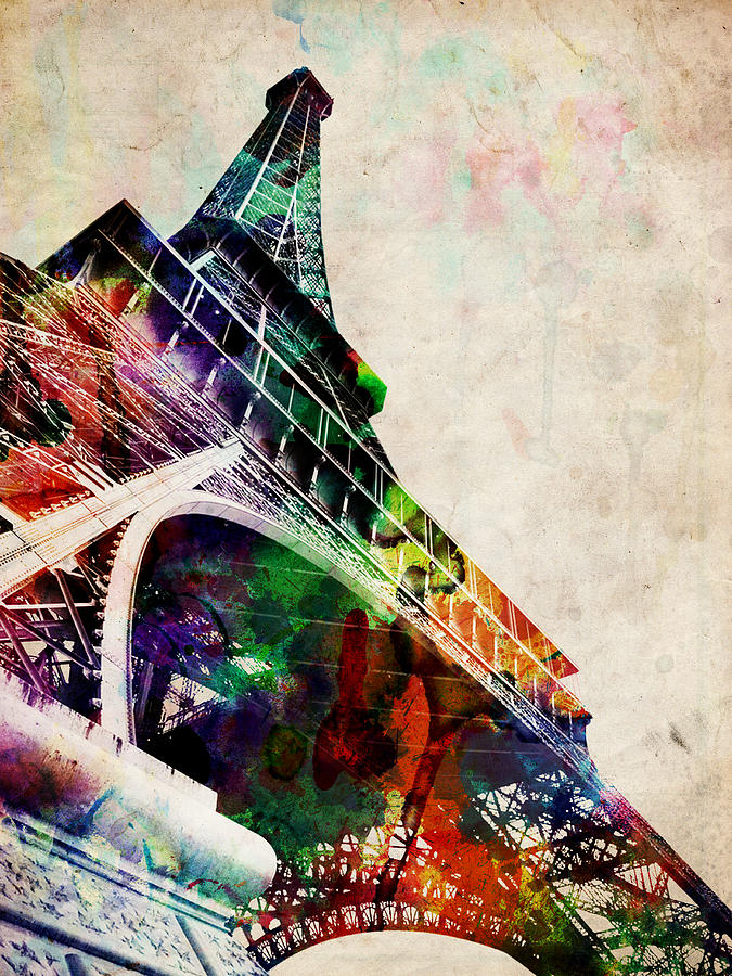 Eiffel Tower Digital Art  - Eiffel Tower Fine Art Print