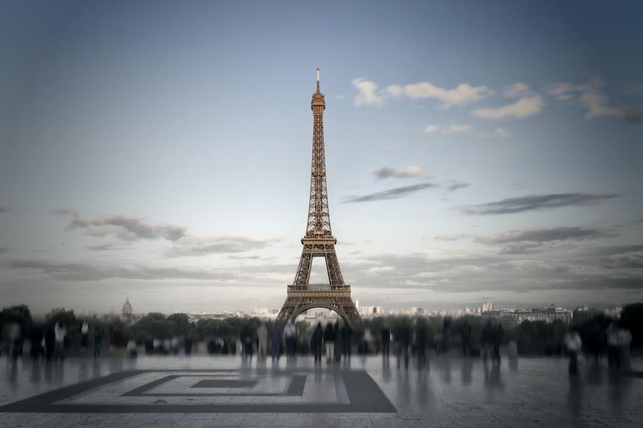 Eiffel Tower Paris Digital Art  - Eiffel Tower Paris Fine Art Print