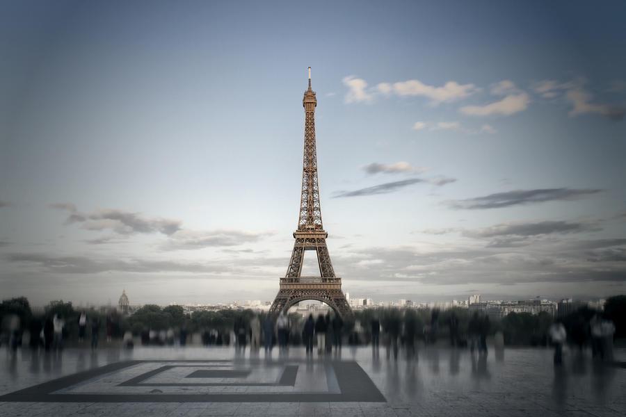 Eiffel Tower Paris Digital Art