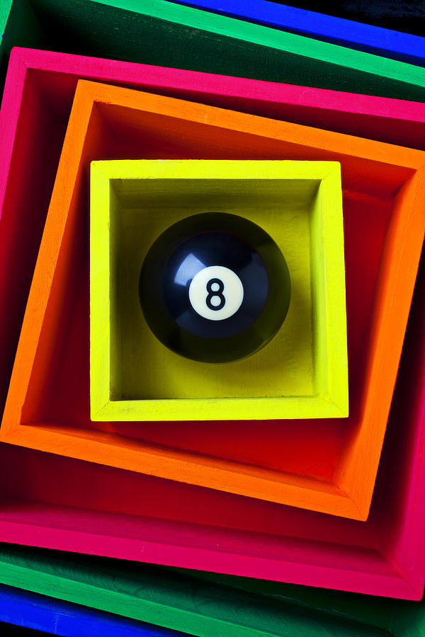Eight Ball In Box Photograph  - Eight Ball In Box Fine Art Print
