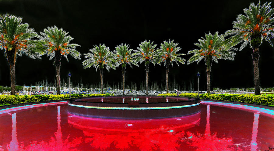 Eight Palms Drinking Wine Painting