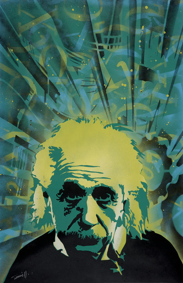 Einstein Painting  - Einstein Fine Art Print